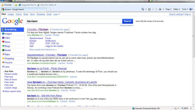 google-resultater