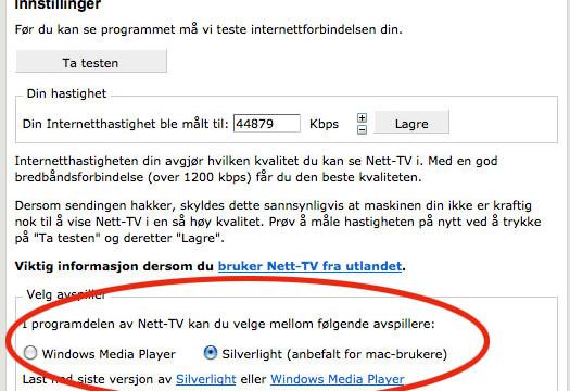 Nå er det ikke lenger noe problem å se NRK nett-TV på en Mac takket være Microsoft Silverlight.