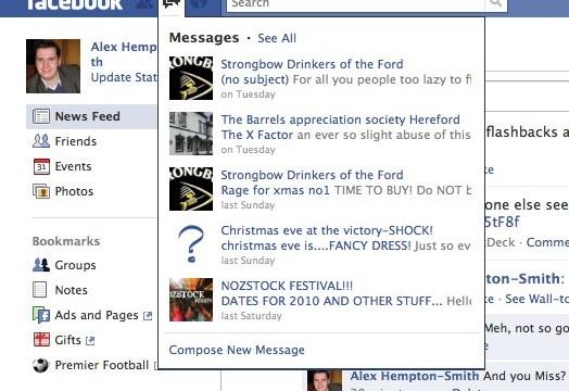 Innboks kan nå leses uansett hvor man befinner seg på facebook.com.