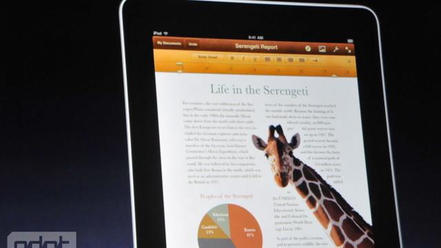 Nye iWork er tilpasset iPad.