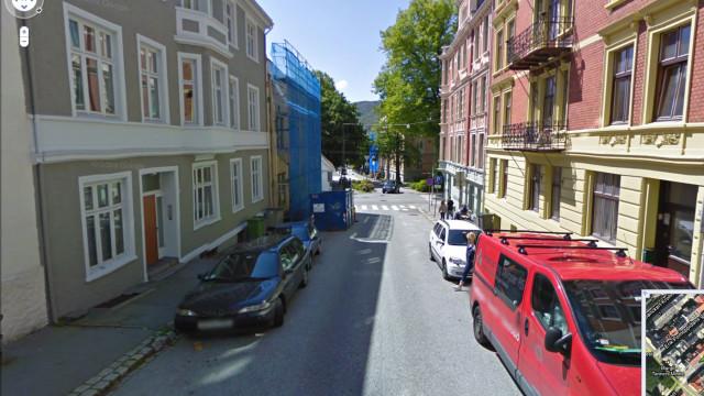En tilfeldig gate i Bergen.