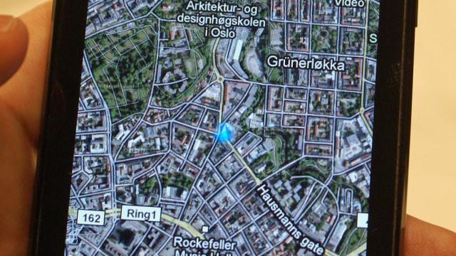 Kun vanlige Google Maps her hjemme, foreløpig.