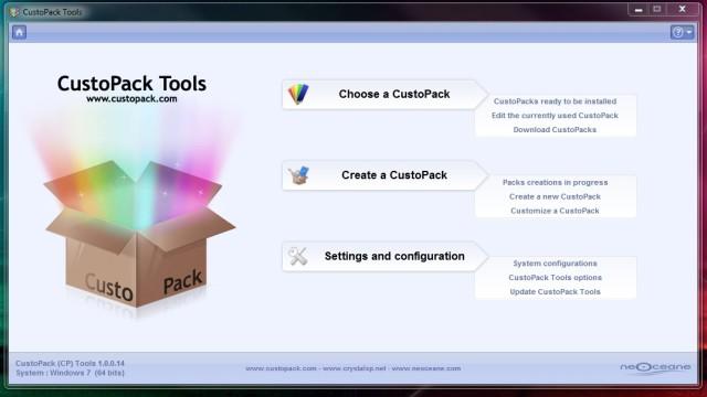CustoPack har et enkelt grensesnitt.