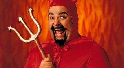 Og her er selveste Satan med sitt septer. Ikke ulikt USB-symbolet - eller hva?