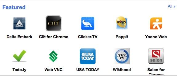 Chrome Web Store er allerede åpen. Her kan du laste ned og prøve de nye appene, også med Chrome 8.