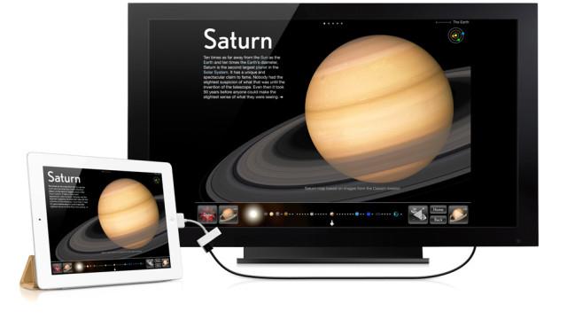 iPad 2 har HDMI ut.
