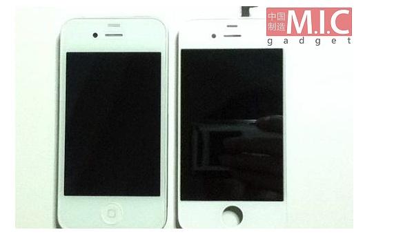 iPhone 4 med til venstre.