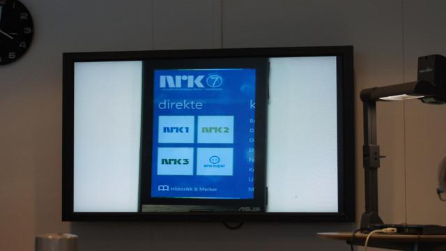 Slik kan NRK-applikasjonen se ut.
