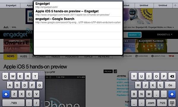 Faner i Safari til iPad, endelig.