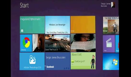Tidlig versjon av Bruccoleris «Immersive»-klone til Windows 7.