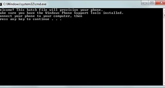 Et lite batch-program sørger for å oppdatere telefonen din til Mango.