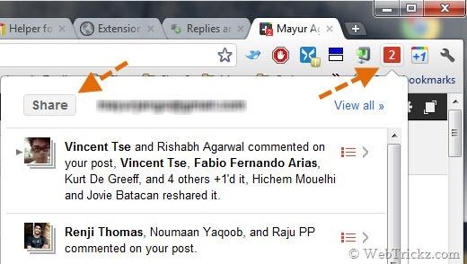Vi kan ikke leve uten denne. Google+-notifikasjoner uansett hvilken fane du er aktiv i.