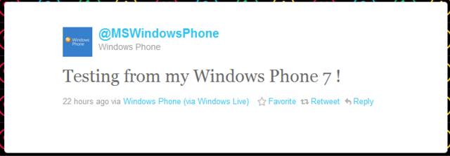 I Mango er Twitter integrert.