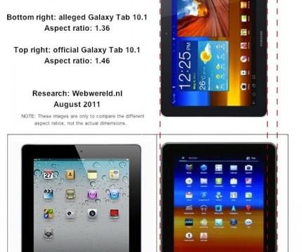 Webwerelds forklarer hvordan de mener Apple har manipulert bildet av Tab 10.1 for å passe deres saksmål.