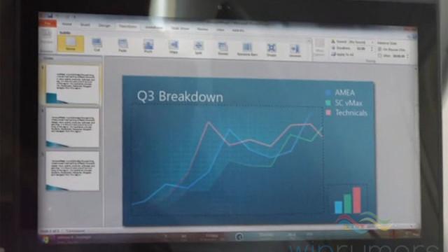 Er dette det nye Windows 8-grensesnittet? Bildet er hentet fra en Windows 8-promovideo og kan kun være et konsept, men Start-logoen stemmer overrens med offisielle skjermbilder.