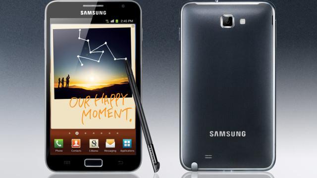 Den opprinnelige Galaxy Note.