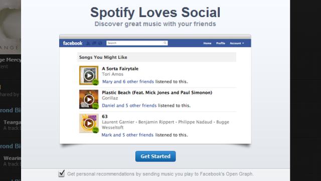 Dette møter deg når du åpner Spotify.
