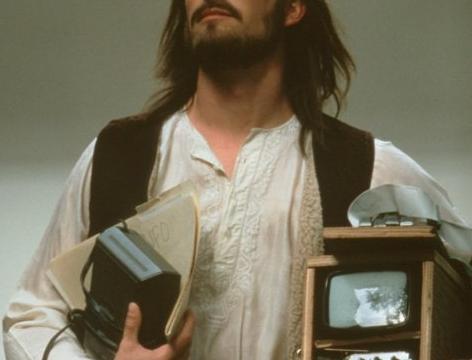 Noah Wyle som en tidlig utgave av teknologi-guru Steve Jobs i 1999.