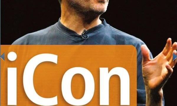 Slik ser omslaget på den gamle Jobs-biografien ut.