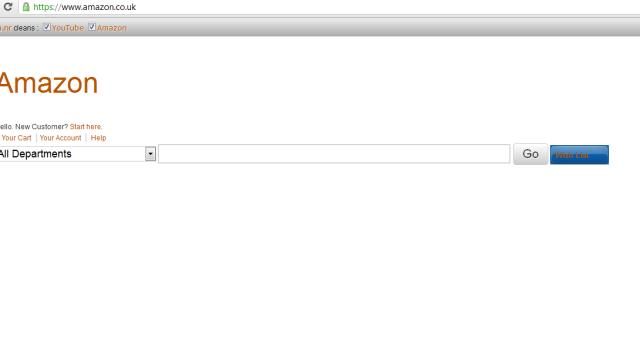 Neida, det er ingen teknisk feil. Dette er amazon.co.uk med clea.nr-utvidelsen.
