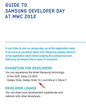 Invitasjonen til utvikler-konferansen på MWC-messen avslører Note 10.1.
