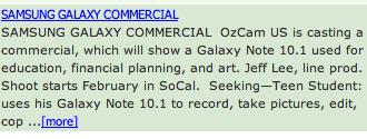 Enda en lekkasje i forbindelse med en reklamefilm-innspilling for Note 10.1.