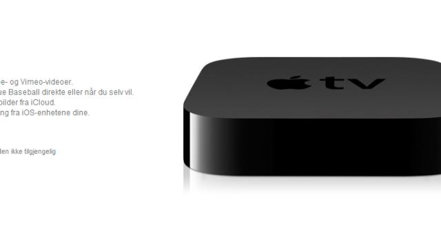 Lavere pris på nye Apple TV i Norge eller skal de selge begge modellene?