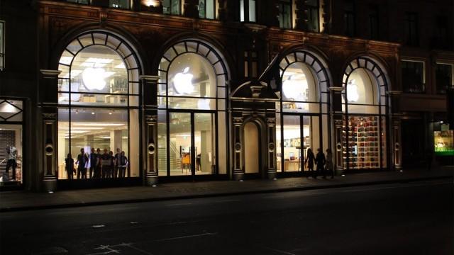 Apples butikk i Regent Street, London.
