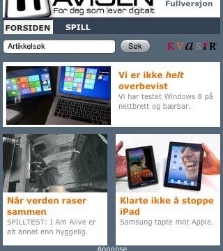 ITavisens iOS-app.