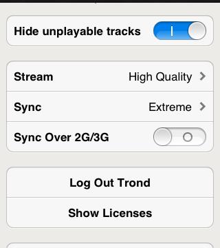 Du finner innstillingene i Spotify-appen.