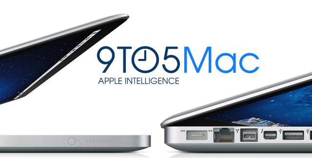 Konsept: den nye, og slanke MacBook Pro til venstre - dagens modell til høyre.