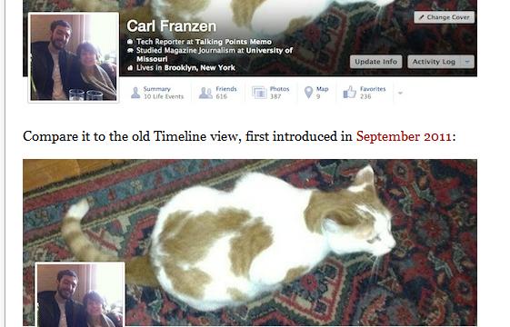 Facebook Begins Testing Redesigned -Timeline- View