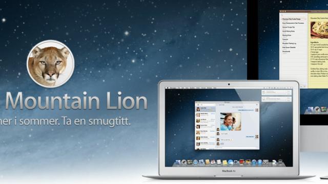 OS X Mountain Lion kommer på sensommeren. Datoen blir trolig avslørt på WWDC som starter 11. juni.