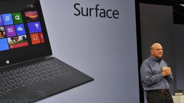 Klokka ett i natt viste Microsofts toppsjef Steve Ballmer frem selskapets første Windows 8-nettbrett.
