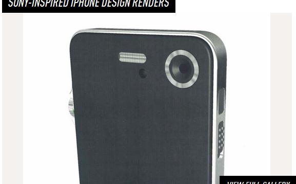 En «Jony»-design-prototype med inspirasjon hentet fra Sony produkter. Jony er kallenavnet til Jonathan Ive, Apples sjefsdesigner.