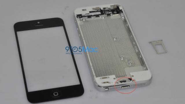 9-pins-tilkobelingen fra en iPhone 5-prototype.