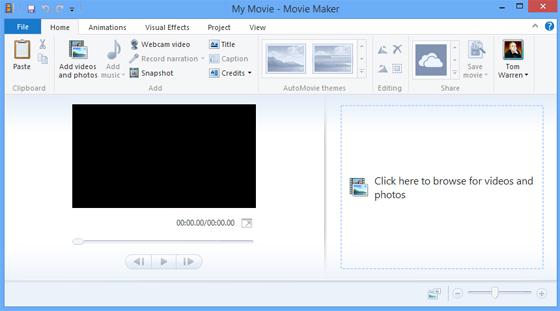 Movie Maker 2012.