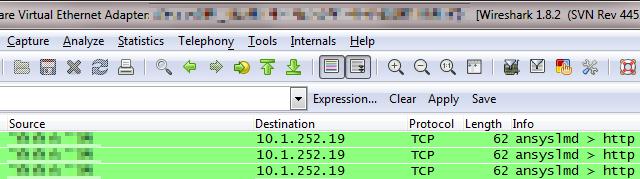 Trojaneren sender filnavnene på den rammede maskinen til andre maskiner på lokalnettet.