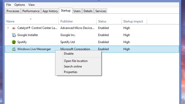 Task Manager har i Windows 8 innebygget støtte for å aktivere eller deaktivere oppstartsprogrammer. Takk, Microsoft, det var på tide.