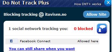 Du kan enkelt oppheve sperringen. Trykk på Facebook Connect og alt fungerer som det skal på ITavisen.no-forsiden, og når du skal logge inn med Facebook på din ITavisen-konto.