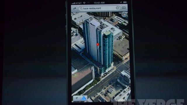 Apples kart-app i 3D-modus.