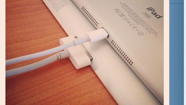iPad Mini får selvsagt den nye Lightning-tilkoblingen først introdusert i iPhone 5.