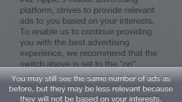 Besøk oo.apple.com og skru av dette.