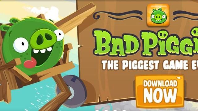 Dette er de ekte grisene: «Bad Piggies» fra finske Rovio.