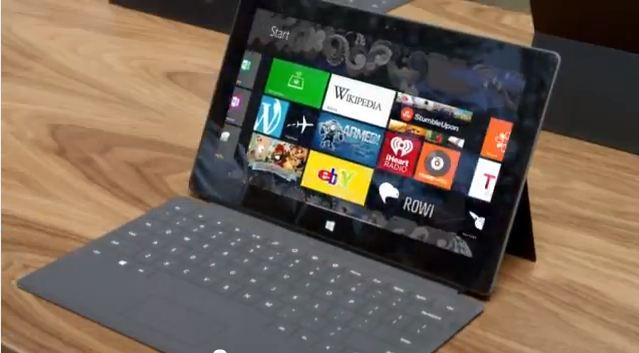 Slik ser Surface ut i reklamevideoen.
