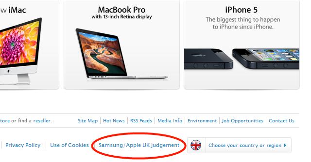 En ikke akkurat overveldende markedsført lenke fra apple.com/uk.