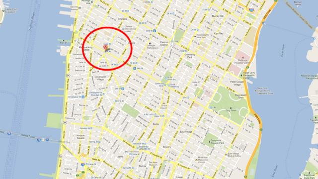 Her på Manhattens 14Th Street eksploderte strømsentralen som satte Gawker-nettsidene ut av spill.