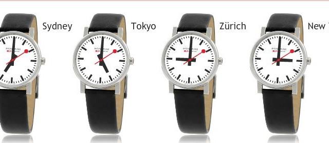 Mondaine leverer også den karakteristiske klokka i armbåndsur-versjon. De er absolutt ikke sure på Apple...