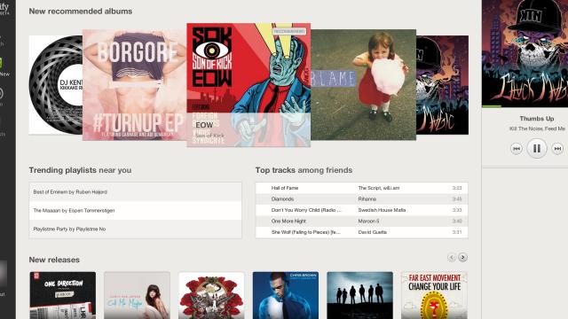 Slik ser altså Spotify ut i nettleseren.