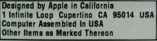 Dette sertifiseringsskiltet bekrefter USA-opprinnelsen.